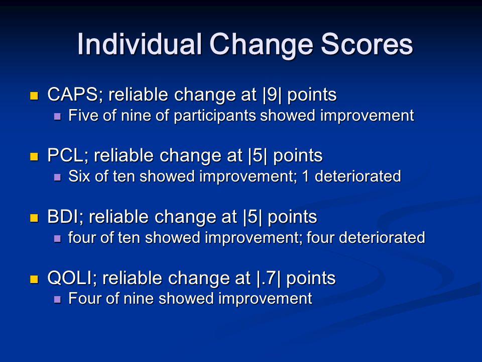 Individual Change Scores