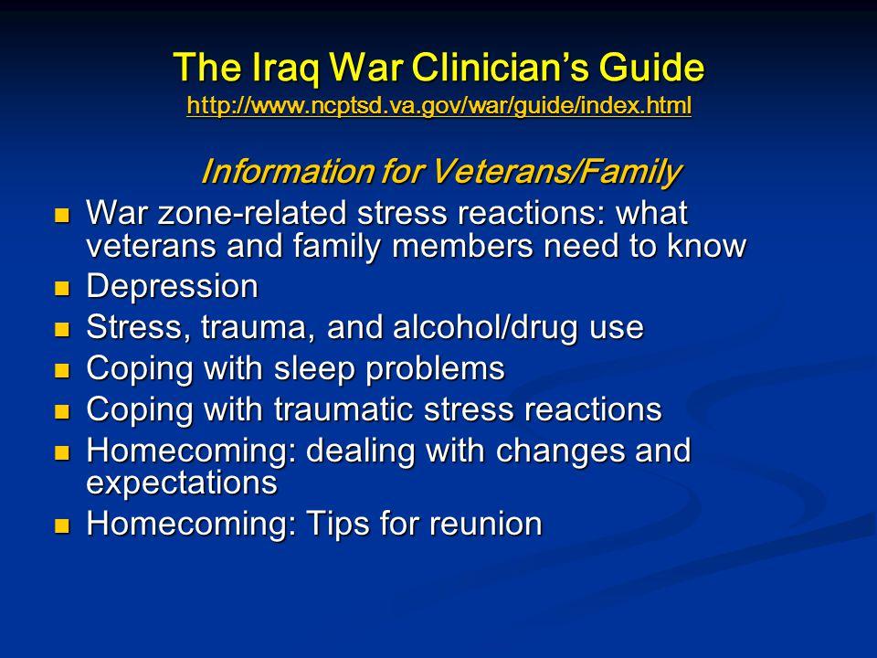Information for Veterans/Family