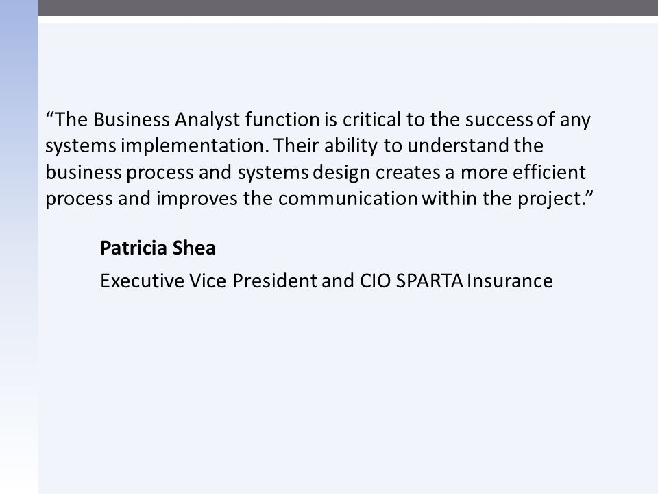 Patricia Shea Executive Vice President and CIO SPARTA Insurance