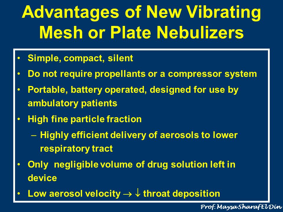 Advantages of New Vibrating Mesh or Plate Nebulizers