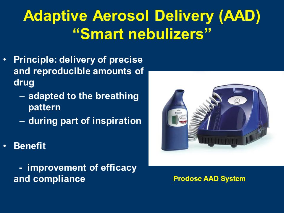 Adaptive Aerosol Delivery (AAD) Smart nebulizers
