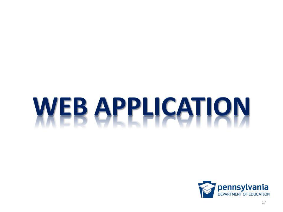 Web application Landing Page