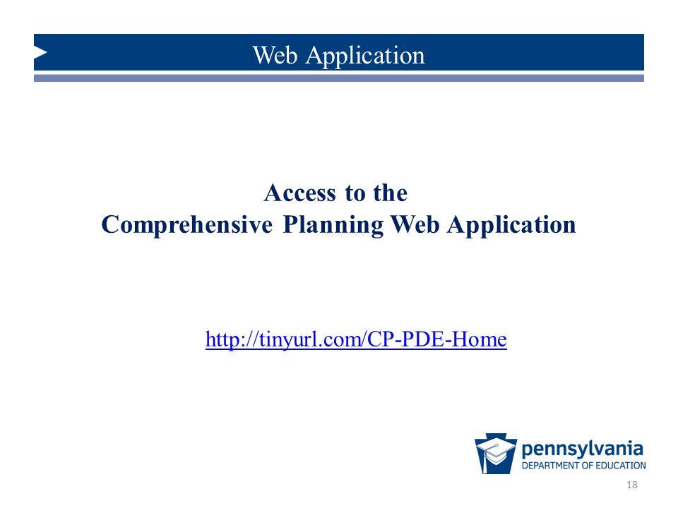 Comprehensive Planning Web Application