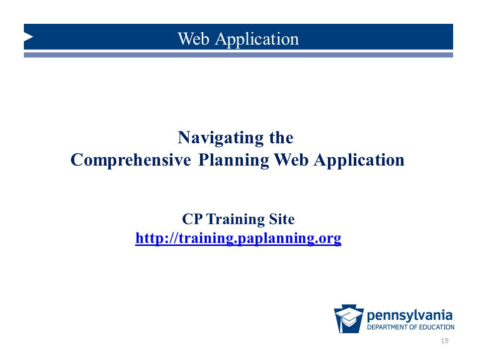 Navigating the Comprehensive Planning Web Application