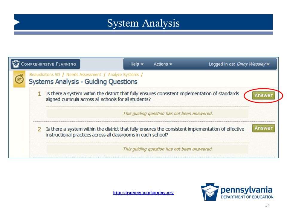 System Analysis http://training.paplanning.org