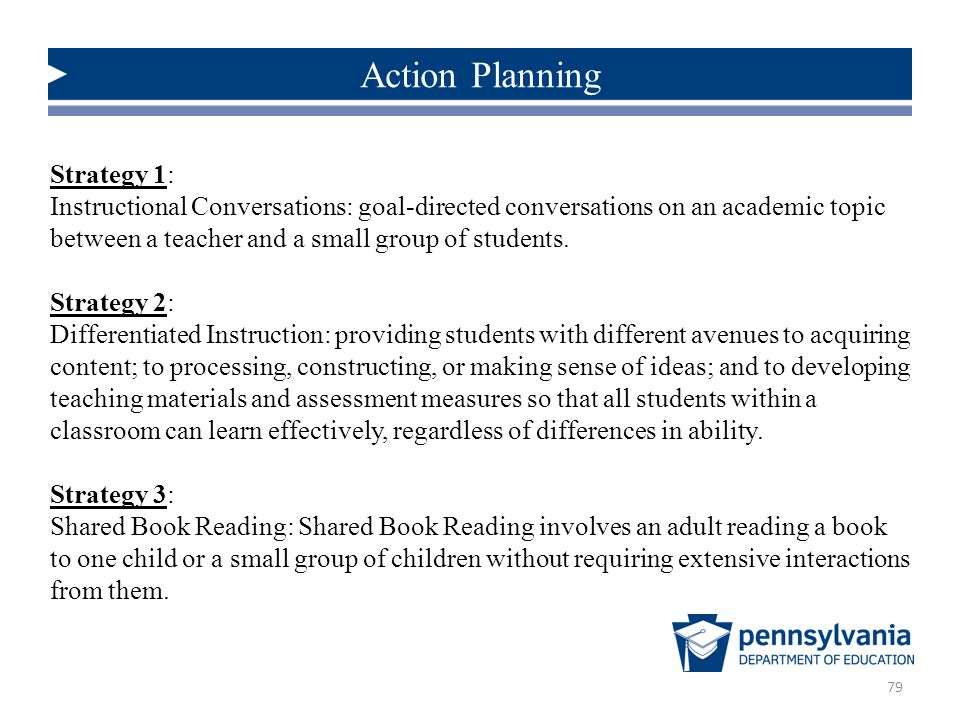 Action Planning Strategy 1: