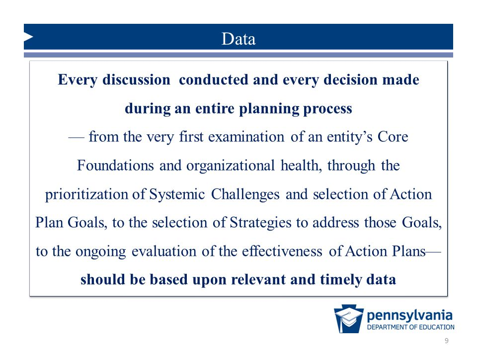 Data Every discussion conducted and every decision made during an entire planning process.