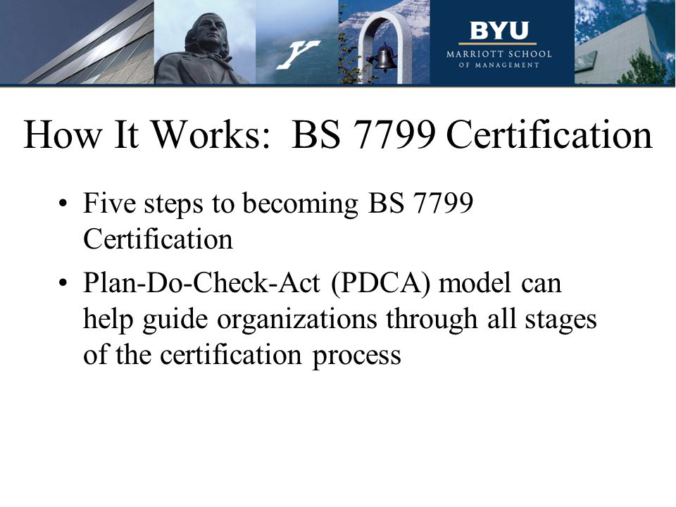 How It Works: BS 7799 Certification