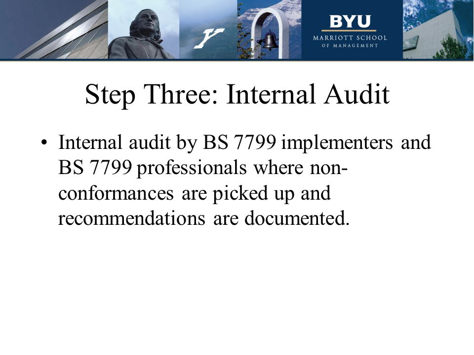 Step Three: Internal Audit
