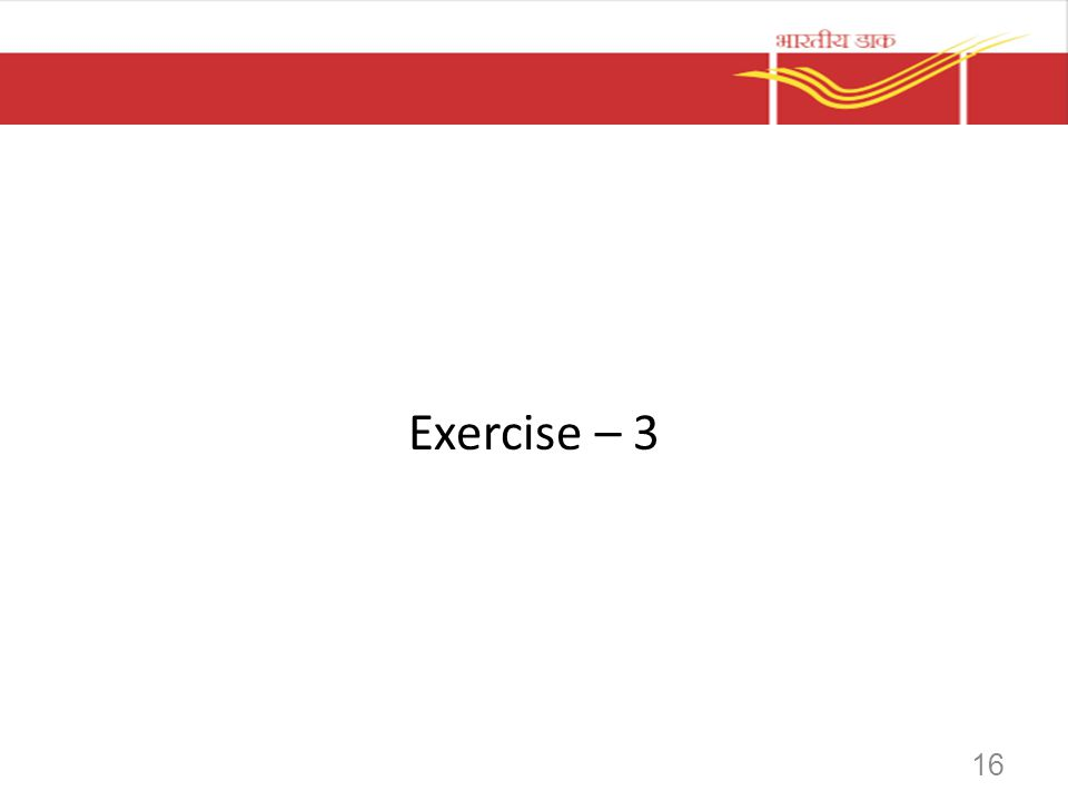 Exercise – 3