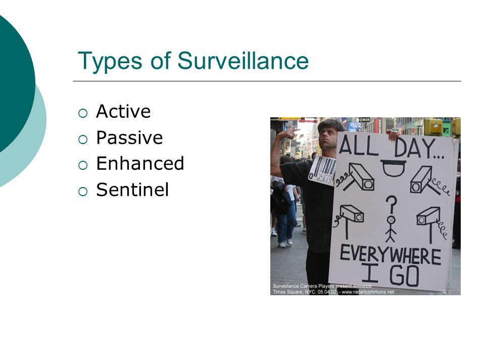 Types of Surveillance Active Passive Enhanced Sentinel