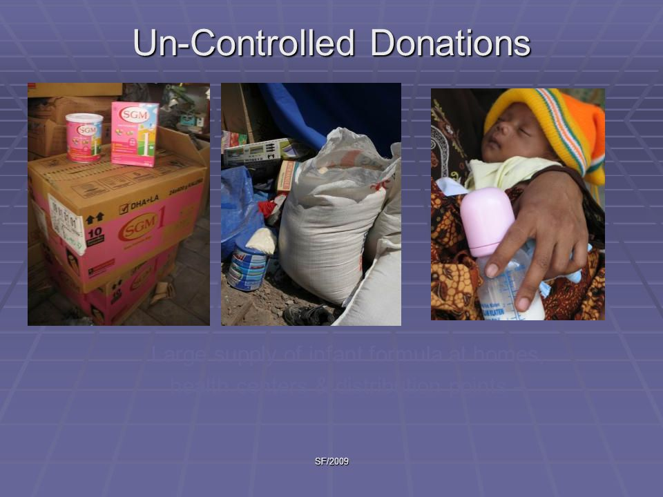 Un-Controlled Donations