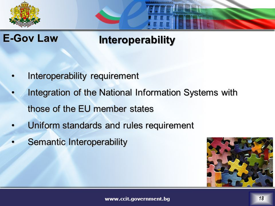 E-Gov Law Interoperability Interoperability requirement