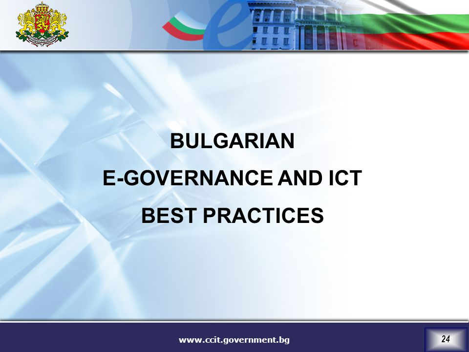 BULGARIAN E-GOVERNANCE AND ICT BEST PRACTICES