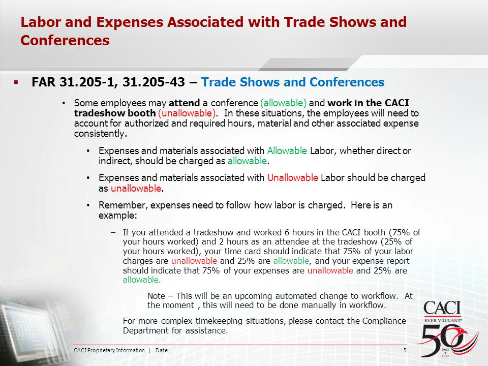Labor and Expenses Associated with Trade Shows and Conferences