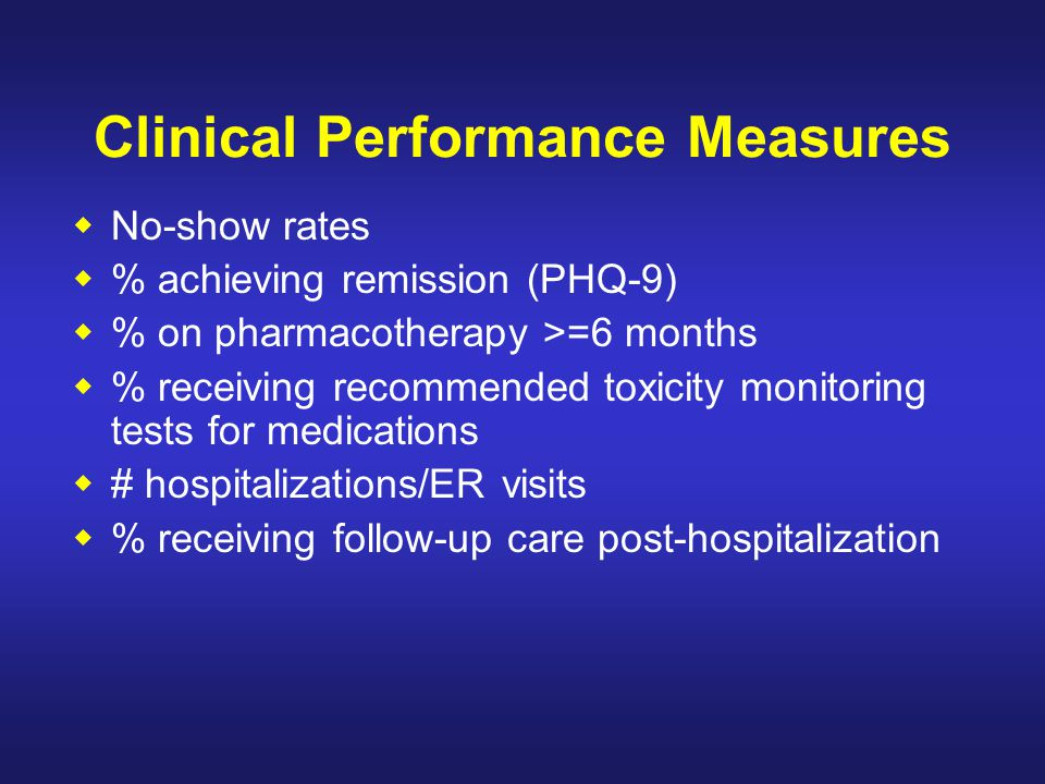 Clinical Performance Measures