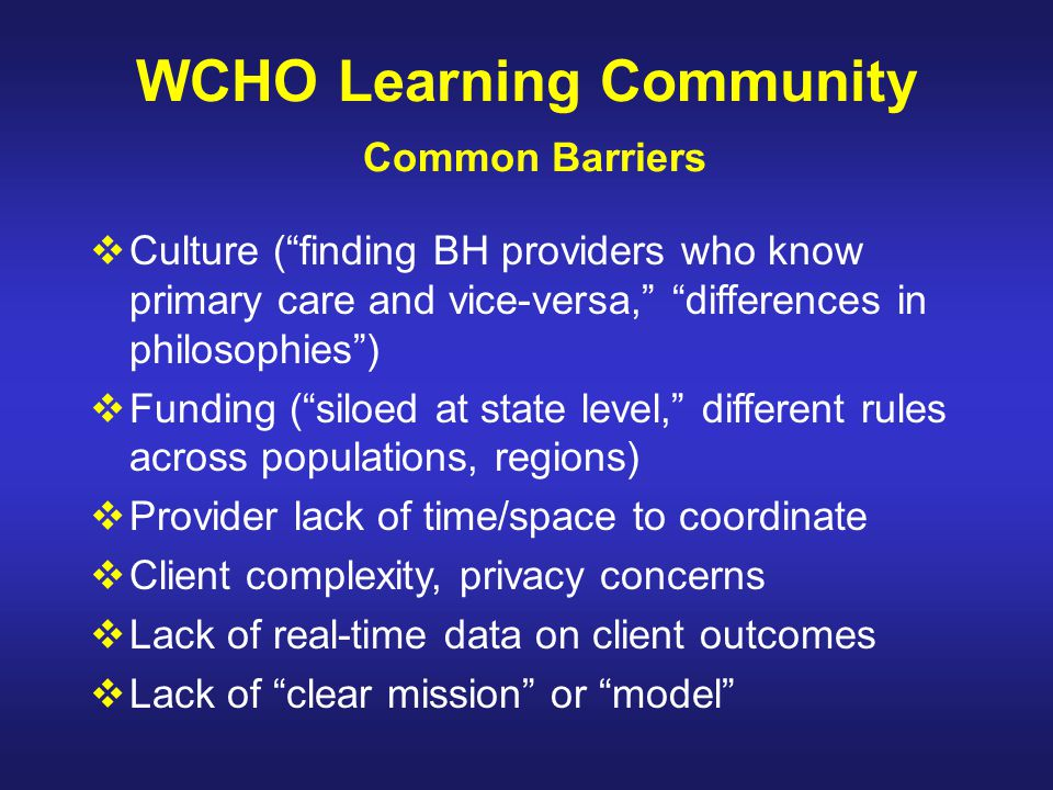 WCHO Learning Community