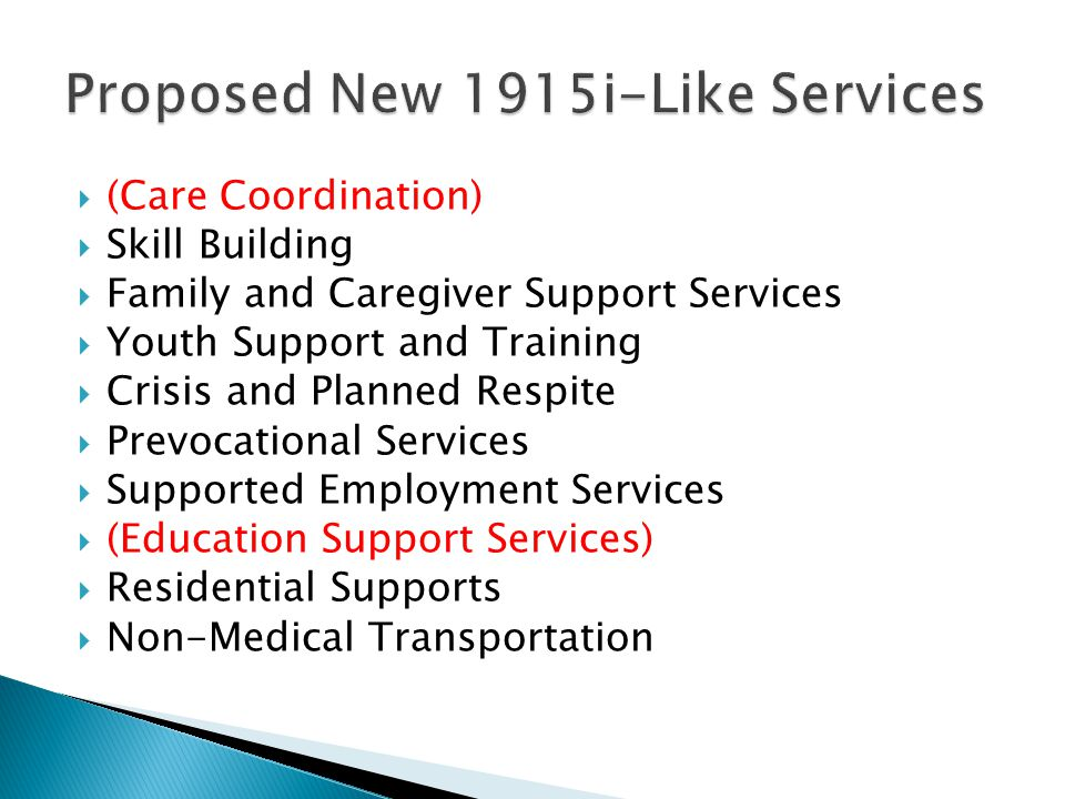 Proposed New 1915i-Like Services