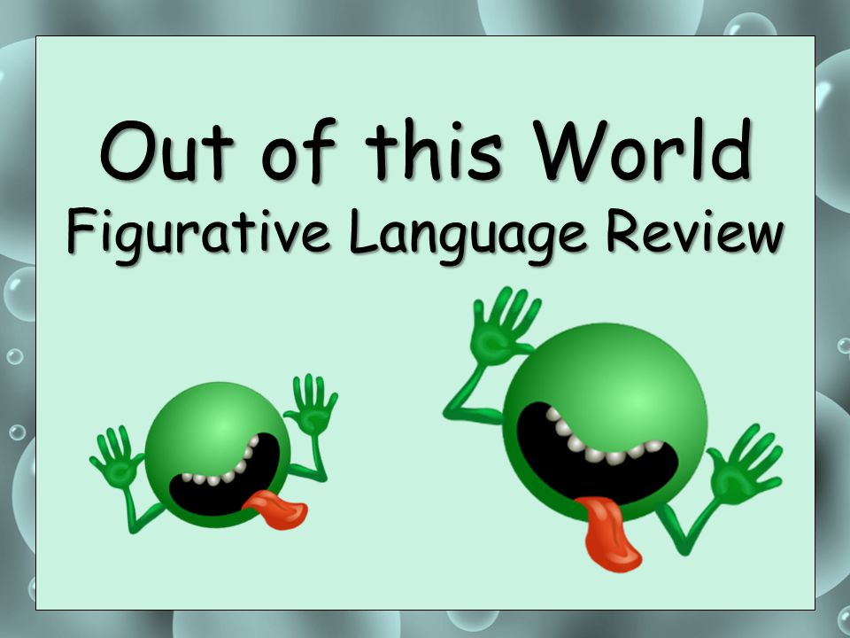 Out of this World Figurative Language Review