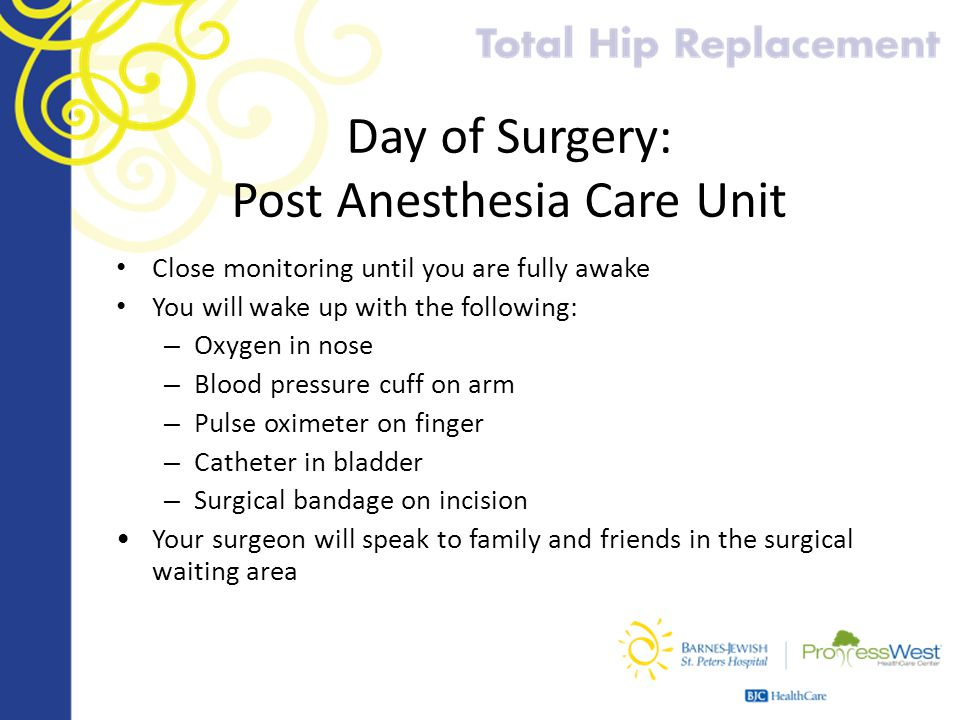 Day of Surgery: Post Anesthesia Care Unit