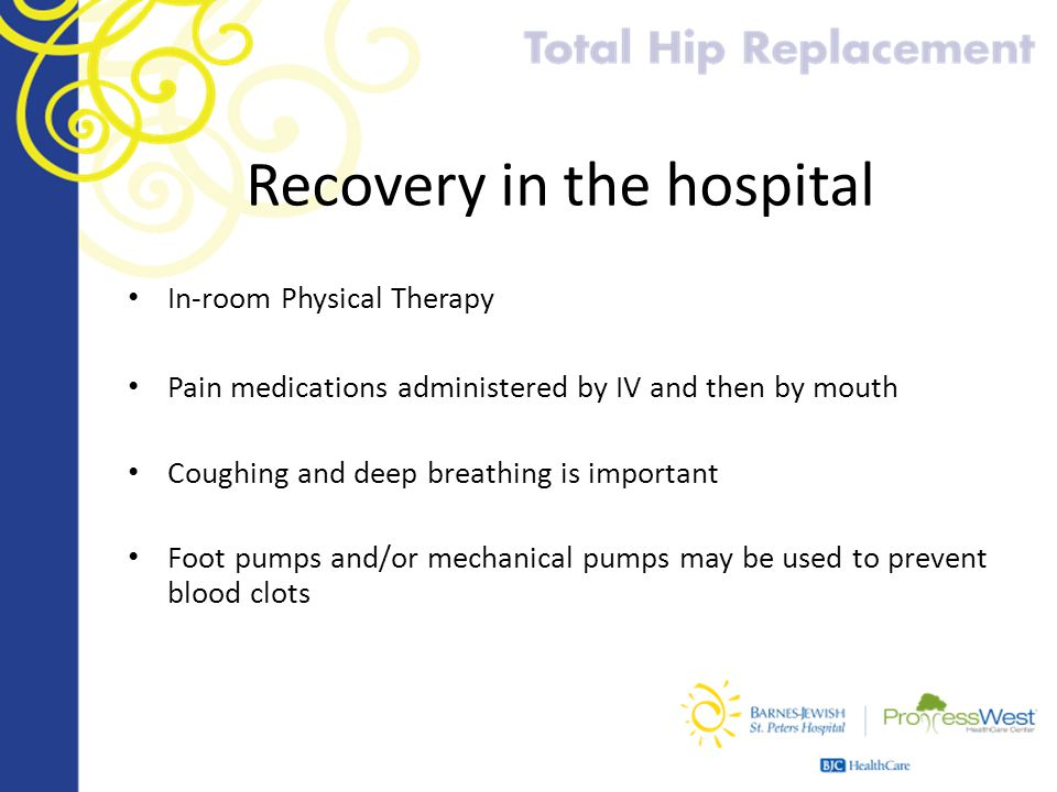 Recovery in the hospital