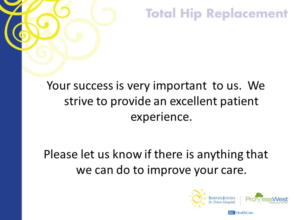Your success is very important to us