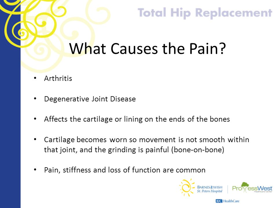 What Causes the Pain Arthritis Degenerative Joint Disease