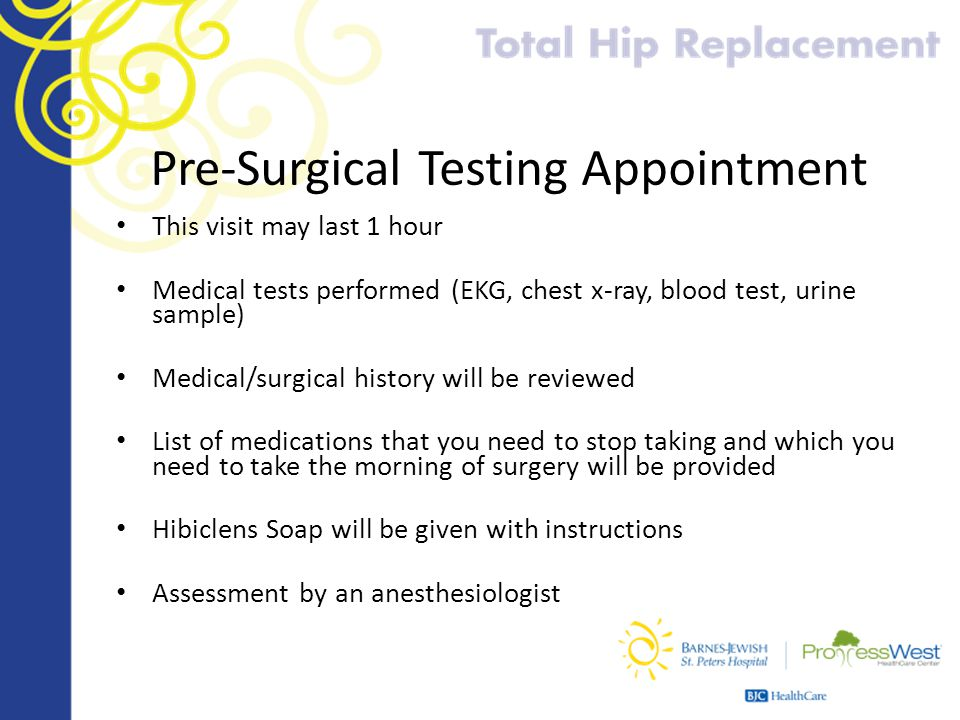 Pre-Surgical Testing Appointment