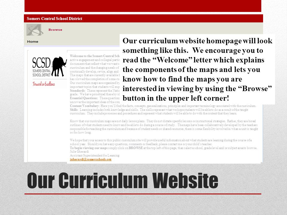 Our Curriculum Website