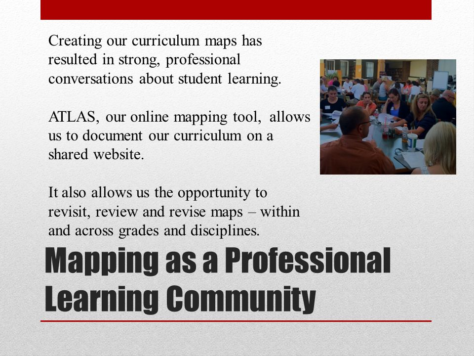 Mapping as a Professional Learning Community