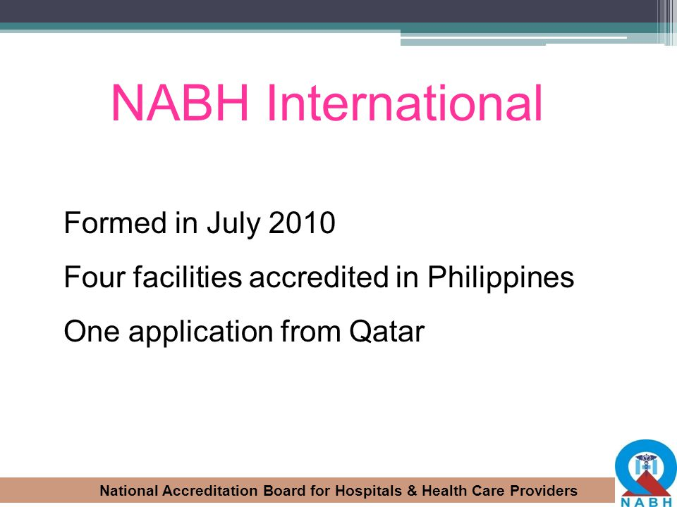 NABH International Formed in July 2010