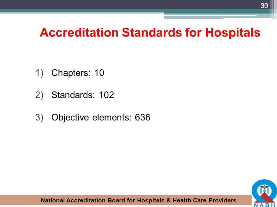 Accreditation Standards for Hospitals
