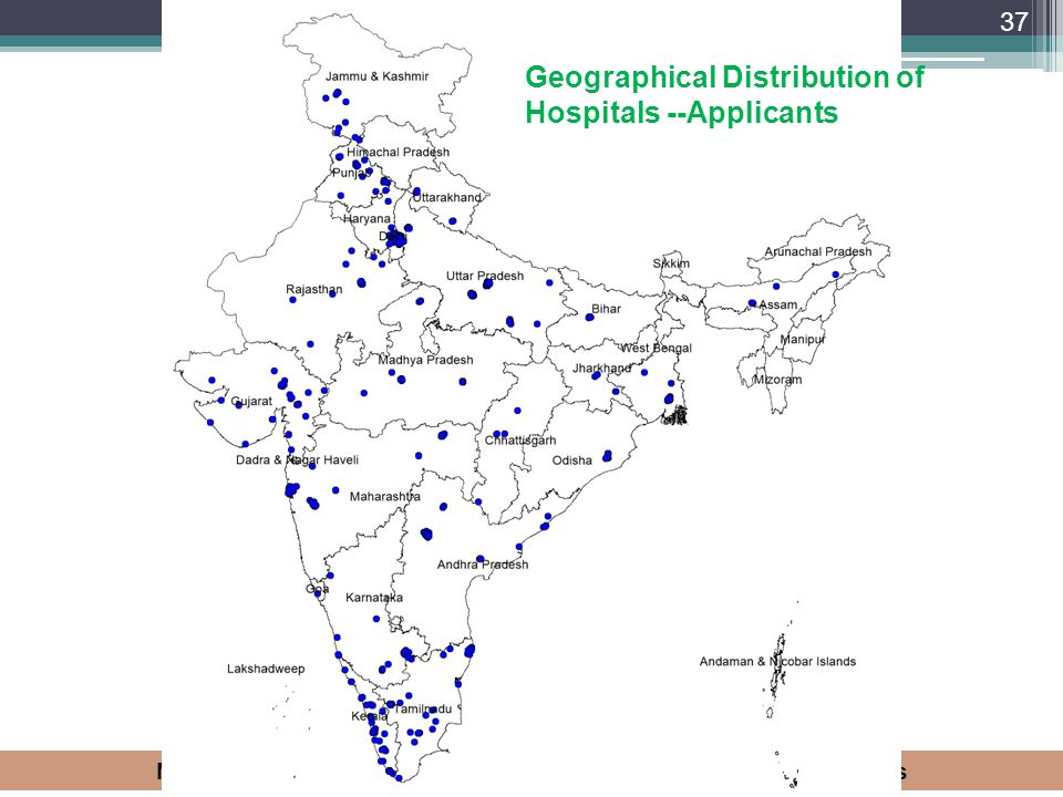 Geographical Distribution of Hospitals --Applicants