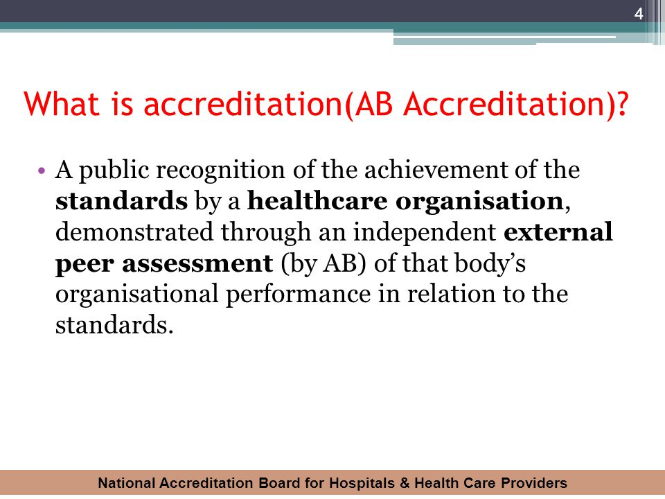 What is accreditation(AB Accreditation)