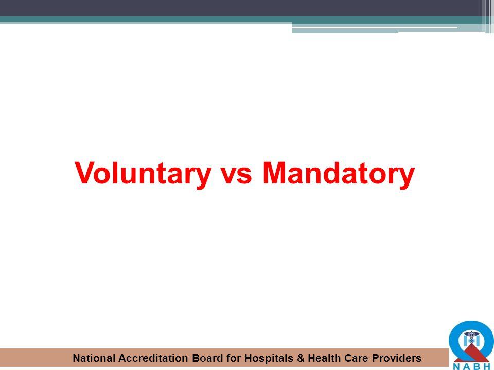 Voluntary vs Mandatory