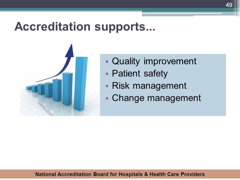 Accreditation supports...