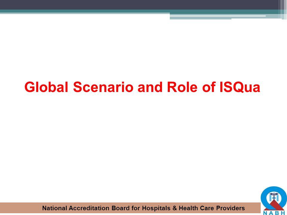 Global Scenario and Role of ISQua