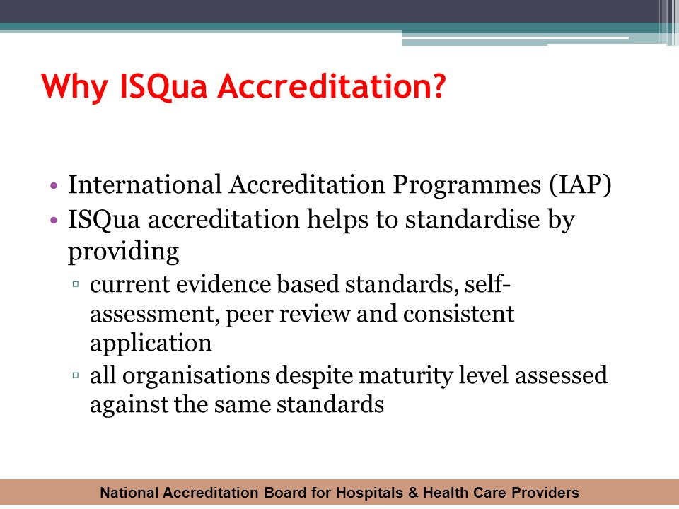 Why ISQua Accreditation