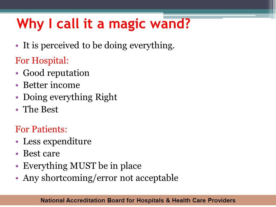 Why I call it a magic wand