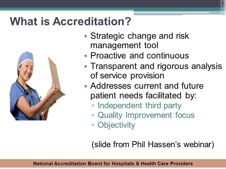 What is Accreditation Strategic change and risk management tool