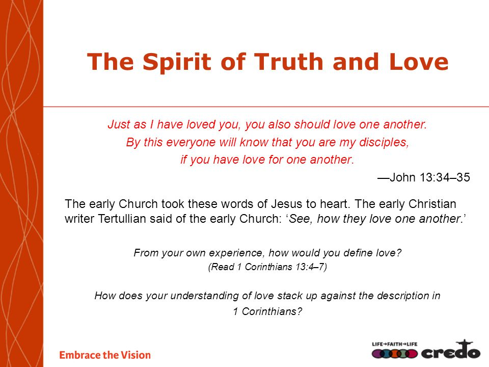 The Spirit of Truth and Love