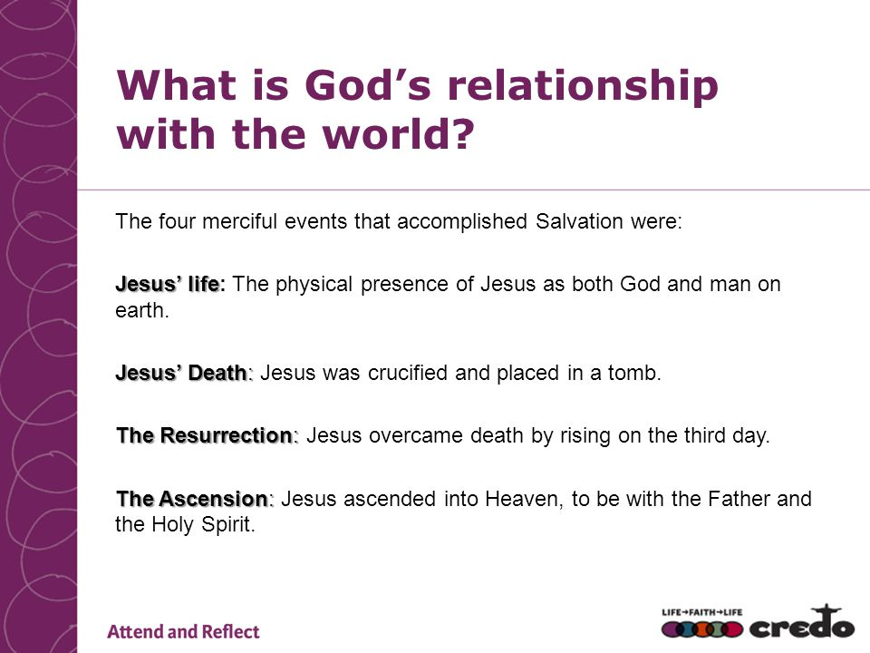 What is God's relationship with the world
