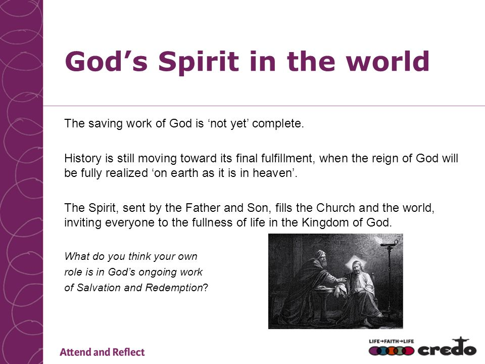 God's Spirit in the world