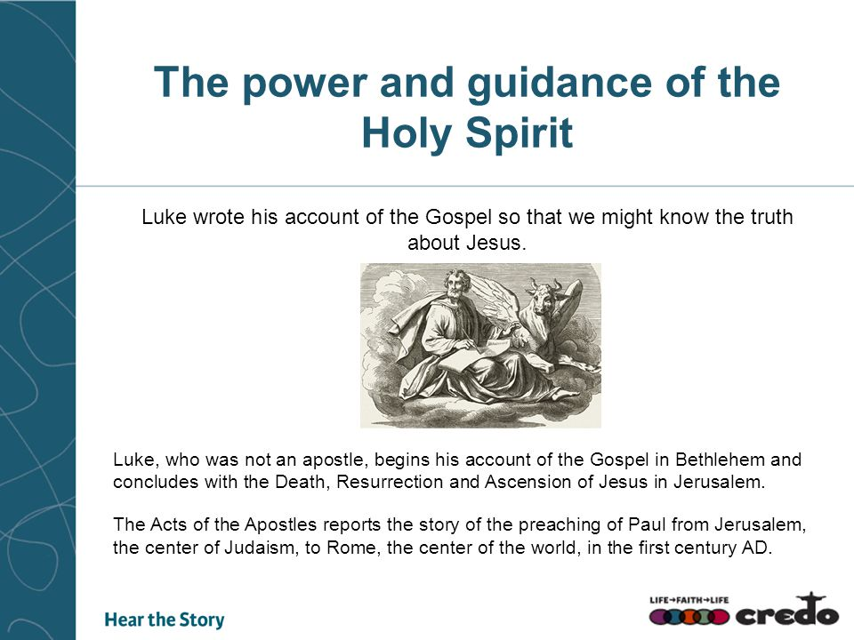 The power and guidance of the Holy Spirit