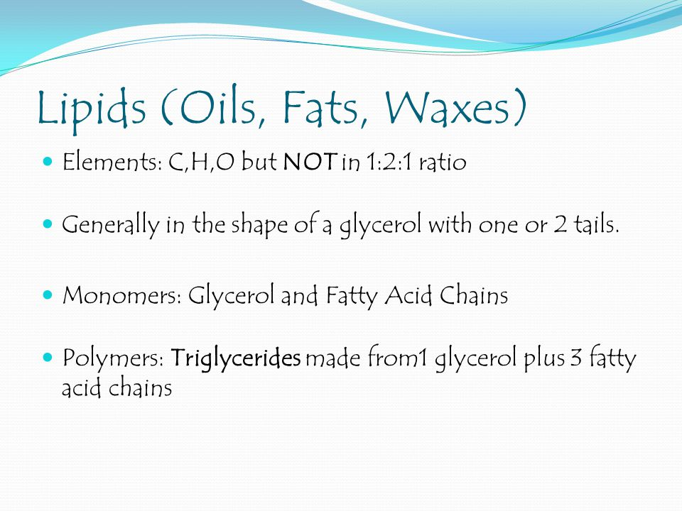 Lipids (Oils, Fats, Waxes)
