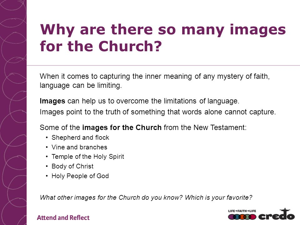 Why are there so many images for the Church