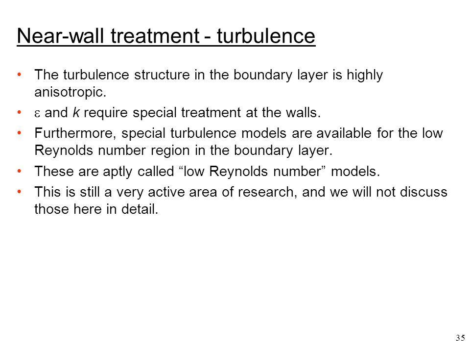 Near-wall treatment - turbulence