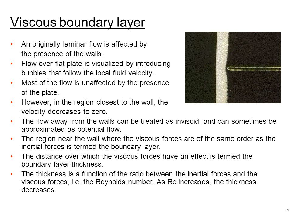 Viscous boundary layer