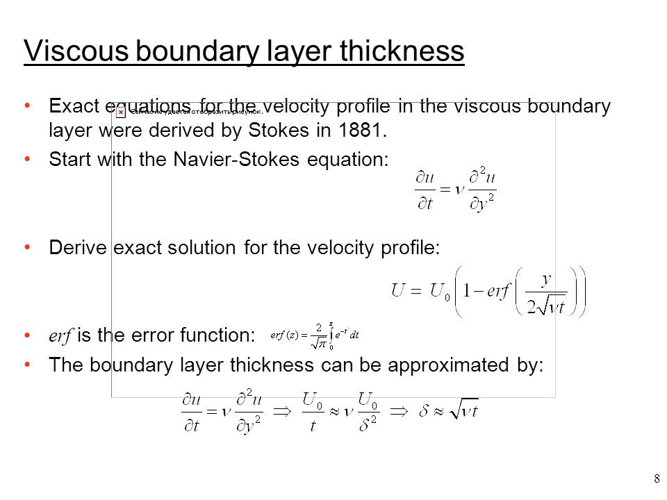 Viscous boundary layer thickness