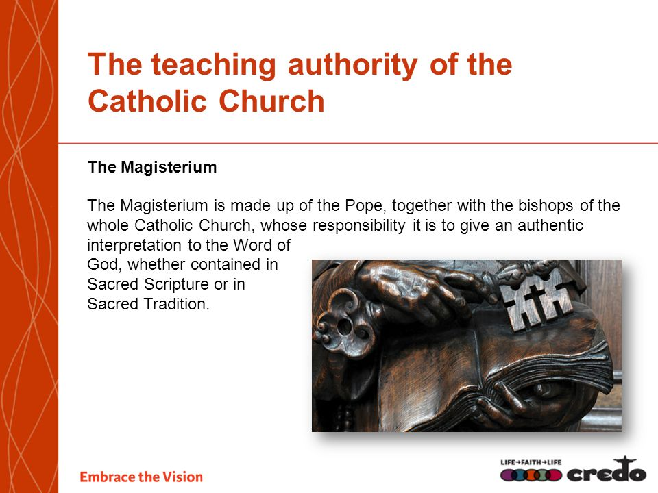 The teaching authority of the Catholic Church